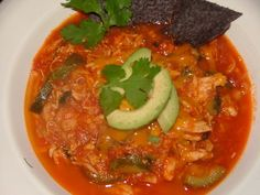 Chicken Tortilla Soup - I'd use corn rather than hominy Not yet tasted, but want to try.