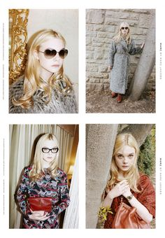 So talented and beautiful. Damn those Fanning genes. (Marc by Marc F/W 2011 ft Elle Fanning.) #celebrityenvy