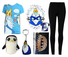 """ice king ( adventure time )"" by alexfred ❤ liked on Polyvore featuring Max Studio and Villain"