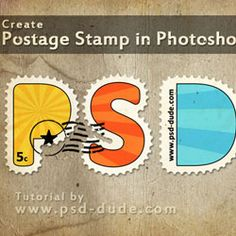 Create a Postage Stamp Text in Photoshop psd-dude.com Tutorials
