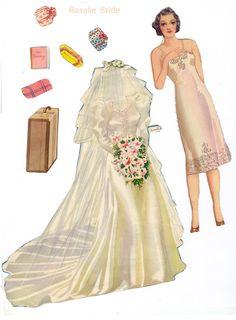Bride paper dolls