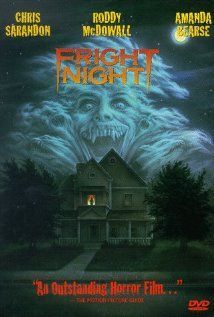 Fright Night on DVD from Sony Pictures Home Entertainment. Directed by Tom Holland. Staring Chris Sarandon, Amanda Bearse, Roddy McDowall and William Ragsdale. More Horror, Cult Film / TV and Movies DVDs available @ DVD Empire. Horror Movie Posters, Horror Movies, Scary Movies, Great Movies, 80s Movies, Excellent Movies, Awesome Movies, Movies Showing, Movies And Tv Shows