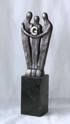 diese moderne kunst skulptur aus bronze ist ein beliebtes business geschenk f r firmen an. Black Bedroom Furniture Sets. Home Design Ideas