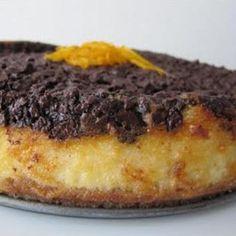 Um cheesecake perfeito para o Inverno. A laranja e o chocolate têm uma química incrível CHEESECAKE DE LARANJA E CHOCOLATE