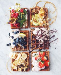 Waffle toppings
