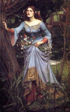 John William Waterhouse (1849-1917) Ophelia–Blue Dress, 1905.