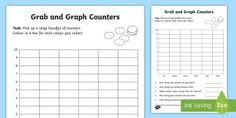 Grab and Graph Counters Activity Sheet - Australian Curriculum Statistics and Probability, foundation, data representation and interpretation