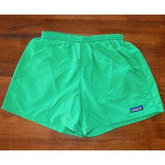 vintage 80s PATAGONIA baggies shorts bathing suit swim trunks grass... ($22) ❤ liked on Polyvore