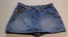 Womens juniors  Size 1 Bongo Jean Skirt skort skirt with shorts Summer cute! #Bongo #Mini