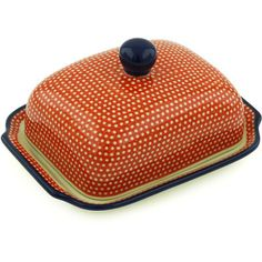 butter dishes | Polish Pottery 7-inch Butter Dish | Boleslawiec Stoneware | Polmedia ...