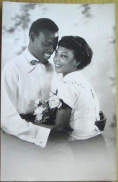 1930 French Realphoto Fantasy Postcard Black Couple
