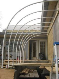 Attached hoop house at Babe and Sage Farm--could I do this by my garage?