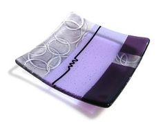 Purple fused glass dish from Valerie Adams Glass.