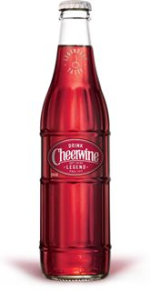 """Cheerwine • """"Born in the South. Raised in a glass."""". Created in 1917 in Salisbury, North Carolina by a general store owner named L.D. Peeler, this singular soft drink with a hint of wild cherry and a bubbly effervescence became an immediate hit. Folks from all around the county came to LD's store to give it a try."""