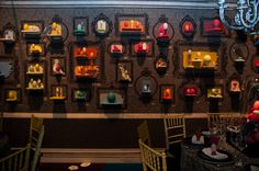 wall decor replace egg stands with candles and jars