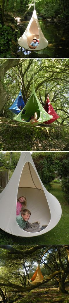Hanging cocoon. Yes, please.