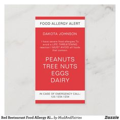 Red Restaurant, Restaurant Recipes, Emergency Call, In Case Of Emergency, Peanut Tree, Cleaning Business Cards, Call Me Maybe, Standard Business Card Size, Calling Cards