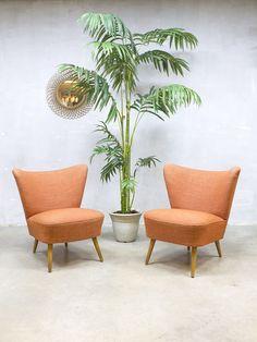 Vintage fifties cocktail chairs mid century fauteuils stoelen sixties artifort design interior living minimalism tijdloos