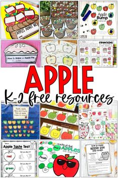Get over ten free apple activities for kindergarten, 1st grade, and 2nd grade. These fall apple freebies include literacy centers, math games, centers, worksheets, reading comprehension, and so much more! These free printable are perfect for apple week activities in September and October!