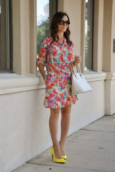 www.smalltownfancy.com  charles-henry-jessica-simpson floral print dress