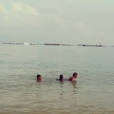 Swimming in East cost park Singapore