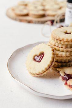 easy plum linzer cookies