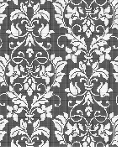 All sizes | Damask Cross Stitch Pattern | Flickr - Photo Sharing!