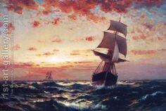 Ships at Sea I by Edward Moran