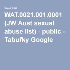 WAT.0021.001.0001 (JW Aust sexual abuse list) - public - Tabuľky Google