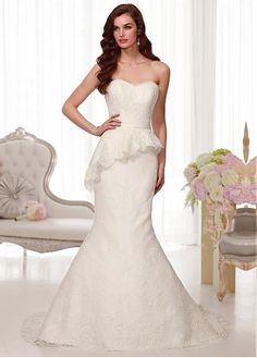CHARMING TULLE SWEETHEART NECKLINE NATURAL WAISTLINE MERMAID WEDDING DRESS SEXY LADY LACE FORMAL PROM BRIDESSMAID