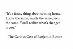 Curious Case Of Benjamin Button Quotes
