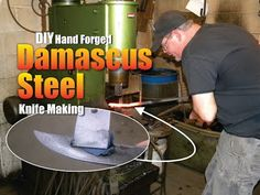 How to make Hand Forged Damascus Steel for knives - YouTube