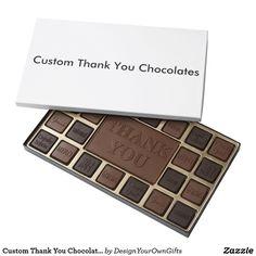 Custom Thank You Chocolates