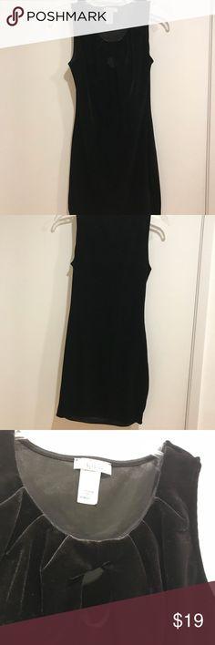 Black mini contour velvet dress Black mini velvet dress with a small peep hole on the collar Dresses Mini