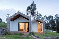 Doctors' housing in Rwanda. Another initiative that involved locals being trained and employed throughout this project. Really cool designs and materials.