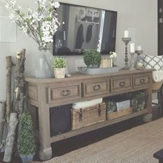 Shabby chic farmhouse living room decor ideas 27