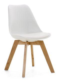 SAVANA-tuoli, valkoinen/tammi