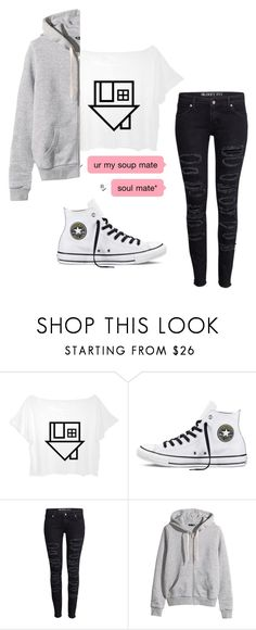 """""""Elara Oaklyn normal outfit"""" by amesic05 on Polyvore featuring Converse and H&M"""
