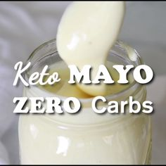 Healthy Recipes How to make healthy homemade mayonnaise - no carbs! - Homemade Keto Mayonnaise is not only delicious, but good for you too! Low Carb Keto, Low Carb Recipes, Diet Recipes, Healthy Recipes, Healthy Food, Kefir Recipes, Healthy Recipe Videos, Healthy Oils, Top Recipes