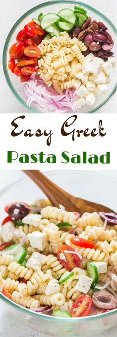Planning a BBQ backyard party, potluck, picnics what ever is on your mind, easy, light, healthy and so delicious Greek pasta salad is all you need. The fact that Greek pasta salad tastes even better after a day of refrigeration makes it a great meal prep dish too. #summerrecipes #coldsalad #greekpastasalad #greeksalads #healthysalad #lightsalad #BBQparty #potluckrecipes #pastarecipes