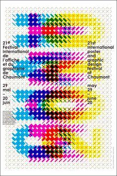 Karel MARTENS – 2010. Affiche du 21e festival international de l'affiche et du graphisme à Chaumont - impression en quadrichromie