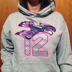 Seattle Seahawks 12Hawk Womens Hoodie by courtney2kdesign on Etsy, $45.00