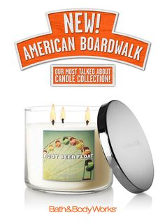 NEW Root Beer Float 3-Wick Candle – sweet root beer poured over pure vanilla ice cream, with a touch of nutmeg <3   #AmericanBoardwalk