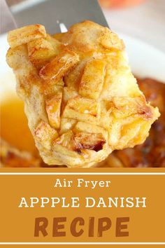 An Air Fryer Apple Danish made quickly with biscuits and fresh apples covered in sweetness. Prepped in 5 minutes, it is a perfect dessert! #appledanish #easyfruitdanish Apple Desserts, Fun Desserts, Apple Danish, Holiday Recipes, Party Recipes, Danish Food, Incredible Recipes, Fresh Apples, Easy Cookie Recipes