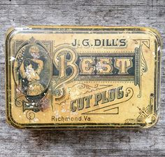 Dill's Best Tobacco Tin Yellow by jennykaase on Etsy
