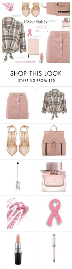 """""""HOPE"""" by arwitaa ❤ liked on Polyvore featuring Topshop, River Island, Valentino, Bend, Burberry, Obsessive Compulsive Cosmetics, MAC Cosmetics, Montegrappa and MANGO"""