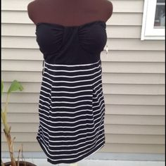 Style tree dress / shirt NWT Style tree dress / shirt NWT, black and white striped, open to offers and questions! Style Dresses