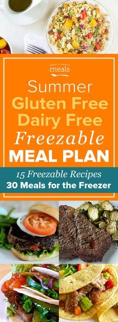 This Summer Gluten Free Dairy Free Freezer Menu highlights flavorful freezer recipes for grilled dinners of Fajita Turkey Burgers to easy summer breakfasts of Frozen Fruit Cups.