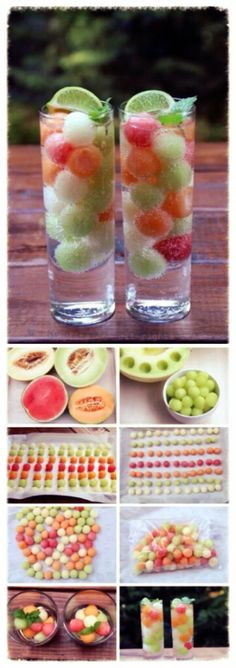 Seervir fruita en bolletes: meló i síndria Fun Drinks, Healthy Drinks, Beverages, Watermelon Jello, Healthy Life, Healthy Eating, Juicer Recipes, Party In A Box, Catering