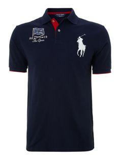 Polo Ralph Lauren Golf Open flag polo shirt, Navy